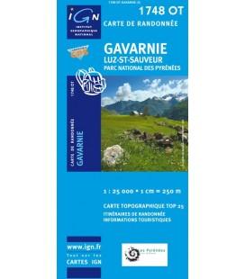 Carte IGN Gavarnie Luz-Saint-Sauveur Pn des Pyrenees - IGN 1748OT