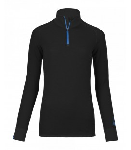 ORTOVOX 210 SUPERSOFT ZIP NECK Black (W)