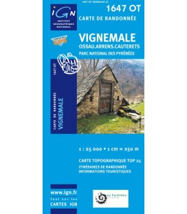 Carte IGN Vignemale - IGN 1647OT