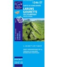 Carte IGN Laruns Gourette Col Daubisque Vallee d'Ossau - IGN 1546ET