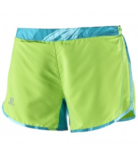 SALOMON AGILE SHORT Green Flash/ Blue Bird (W)