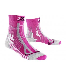 X-SOCKS TRAIL RUN ENERGY ROSE/GRIS (W)