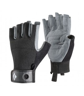 BLACK DIAMOND CRAG HALF-FINGER GLOVES BLACK