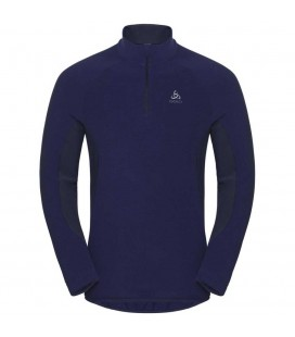 ODLO PULL 1/2 ZIP ROYALE SODALITE BLUE/DIVING NAVY-STRIPES (M)
