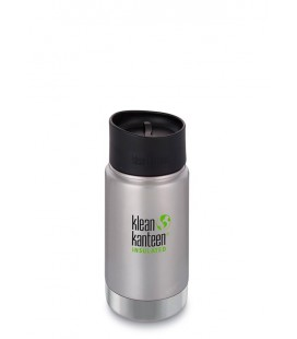 KLEAN KANTEEN INSULATED WIDE 12oZ/355ml BRUSHED STAINLESS