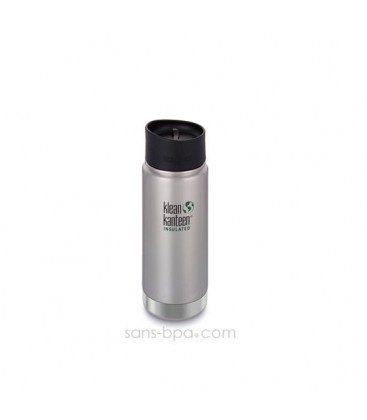 KLEAN KANTEEN INSULATED WIDE 16OZ/473ML BRUSHED STAINLESS