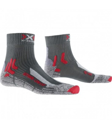 X-SOCKS TREK OUTDOOR LOW CUT ANTHRACITE/ROUGE (M)