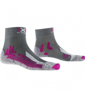X-SOCKS TREK OUTDOOR LOW LADY ANTHRACITE/FUSHIA (W)