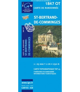 CARTE IGN Saint-Bertrand de Comminges - IGN 1847OT