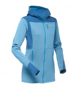 NORRONA FALKETIND WARM1 STRETCH ZIP HOODIE BLUE MOON (W)