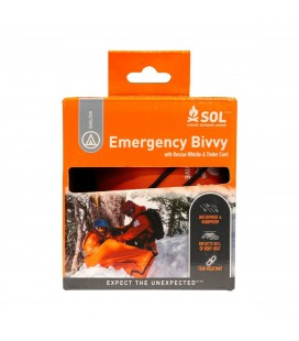 SOL EMERGENCY BIVY WITH RESCUE WHISTLE & TINDER CORD