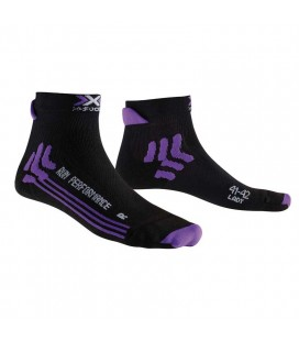 X-SOCKS RUN PERFORMANCE BLACK PURPLE (W)